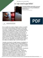 DIABETES Ojo Con Lo Que Bebe - 20150729