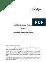 2008 Fabrication & Welding Higher Finalised Marking