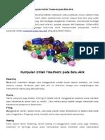 Kumpulan Istilah Treatment Pada Batu Akik