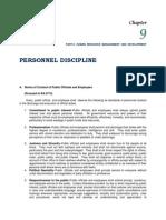 chapter 9 - personnel discipline
