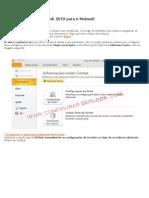 Como Configurar o Oulook 2010 Para o Hotmail
