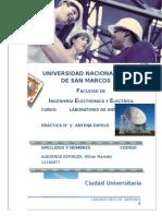 Laboratorio 1 Antenas - Antena Dipolo