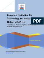 Egyptian Guideline on Pharmacovigilance