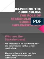 Delivering The Curriculum