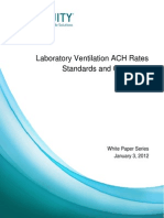 Lab Ventilation ACH Rates Standards and Guidelines