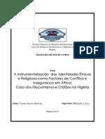 A Instrumentalização Das Identidades Étnicas e Religiosas Como Factores de Conflitos e Insegurança Em África
