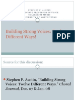 Building Strong Voices 12 Different Ways