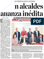 Crean alcaldes alianza inédita