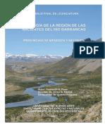Geología de la región de las nacientes del Río Barrancas (Neuquén - Mendoza  - Argentina)