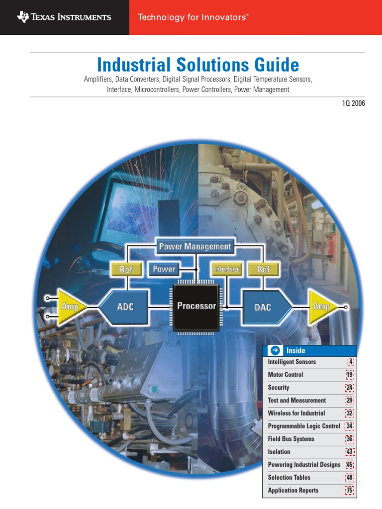 Industrial Solutions Guide | Analog To Digital Converter | Thermocouple