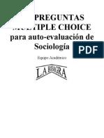 100 Preguntas multiple Choice para auto-evaluación de SociologÃ