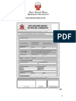 DECLARACION JURADA DE VIDA DEL CANDIDATO(A) Formato de DJDV )