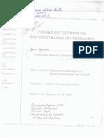 Intinerário Teorico Em Psicopatologia Do Trabalho