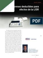 Intereses, deducción para ISR