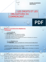 Droits Et Obligations Des Commercants