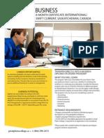 International Business Progcram Information Sheet July 2015