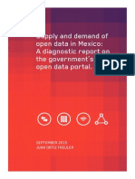 Supply and Demand of Data Through Mexico's Open Data Portal