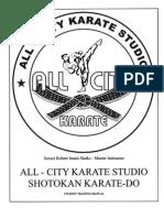 Dojo Training Manual Shotokan Karate