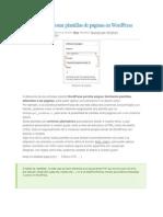 Crear y Gestionar Plantillas de Páginas en WordPress