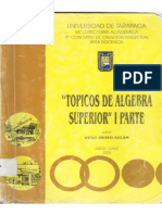 Topicos de Algebra Superior