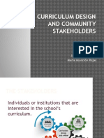 Curriculum Design and Community Stakeholders
