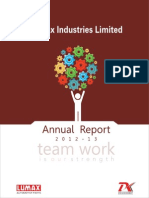 Lumax Industries Limited Annual Report 2012 2013
