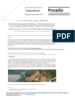 Environmental Management Planning Considerations About the Events Occurring in Santa Catarina Brazil in November 2008