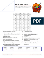 Chinese New Year Worksheet with Answer Key Wordsearch puzles