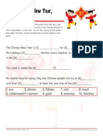 Chinese New Year Worksheet with Answer Key Vocab Close