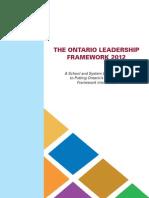 The Ontario Leader Ship2012