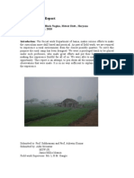 Rural Camp Report, MSW, Jamia Millia Islamia