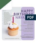 Nivaana 1 Year Birthday Invitation