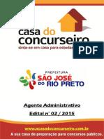 Apostila Prefeiturasaojosedoriopreto 2015 Agenteadministrativo