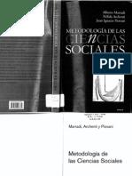 Marradi, A. Archenti, N. & Piovani, J. (2007). Metodología de Las Ciencias Sociales (Scan)