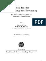 Heinrich Kliewe - Leitfaden Der Entseuchung Und Entwesung 1937