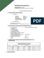 Memoria Descriptiva FINAL para subdivisión de Predio Rústico SUNARP