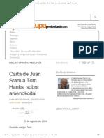 Carta de Juan Stam a Tom Hanks_ Sobre Arsenokoitai - Lupa Protestante