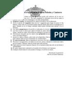 Indicaciones Para Los Miembros de La Schola y Cantores