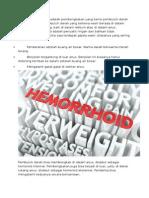 Wasir Atau Hemoroid Adalah Pembengkakan Yang Berisi Pembuluh Darah Yang Membesar