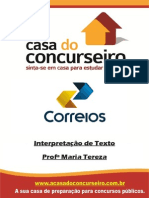 Apostila Correios2014 InterpretacaoDeTexto MariaTereza