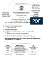 ECWANDC Finance Committee Special Meeting - August 17, 2015