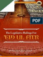 The Legislative Rulings for Eid Ul Fitr Shaykh Abdulqaadir Al Junayd