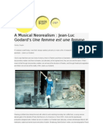 A Musical Neorealism - Jean Luc Godard's Une Femme est Une Femme