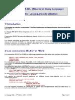 Le Langage SQL (1ere Partie)