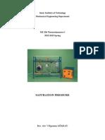 Saturation Pressure Foys