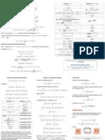 Tabla de Derivadas e Integrales (Flyer) (FDX Maths - Versión 2014)