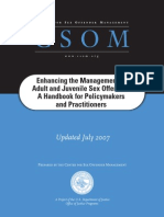 Enhancing the Management of Adult and Juvenile Sex Offenders - A Handbook for Policymakers and Practitioners