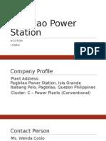 ME180 Preliminary Report Pagbilao Power Station