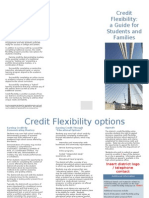 Credit Flexibility Brochure Template for Students and Families 1.0