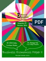 SYBCom Business Economics Semester IV 2014